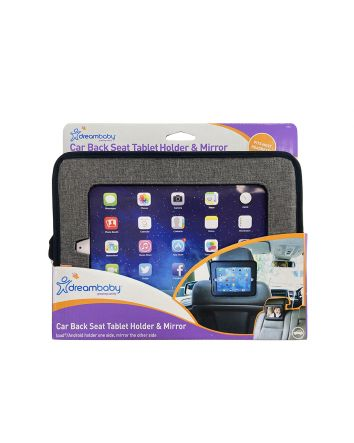DOUBLE-SIDED CAR BACK SEAT TABLET HOLDER & MIRROR
