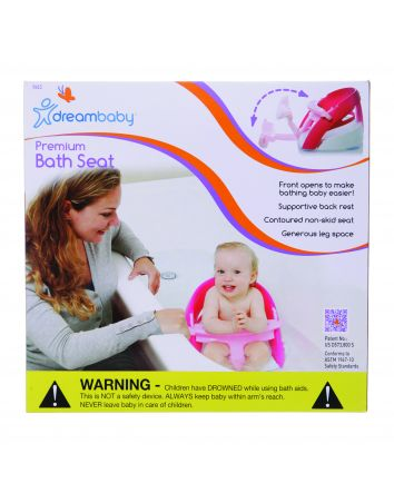 PREMIUM BATH SEAT WITH WATER SCOOP - PINK
