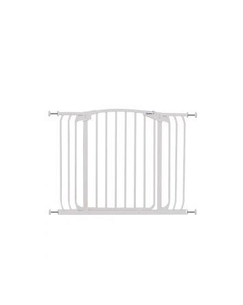 ZOE EXTRA-WIDE HALLWAY AUTO-CLOSE PET SECURITY GATE - WHITE