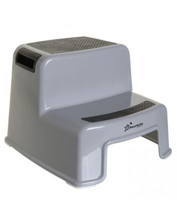2-UP STEP STOOL - BLACK & GREY