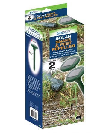 SUNFORCE SOLAR SNAKE & PEST REPELLER 2 pack